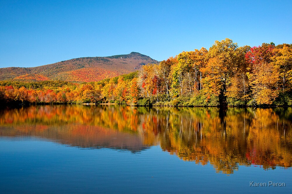Autumn on Julian Price Lake by Karen Peron