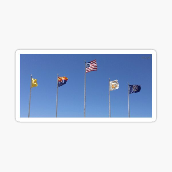 Flags of the Navajo Nation Indian Reservatioin Sticker