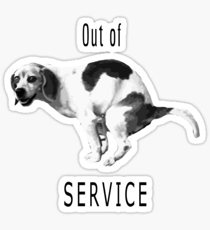 Out of service Sticker