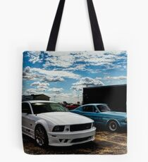 Saleen Mustang and 1968 Mustang Tote Bag