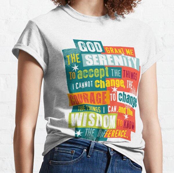 Serenity Prayer Original Diseño gráfico Camiseta clásica