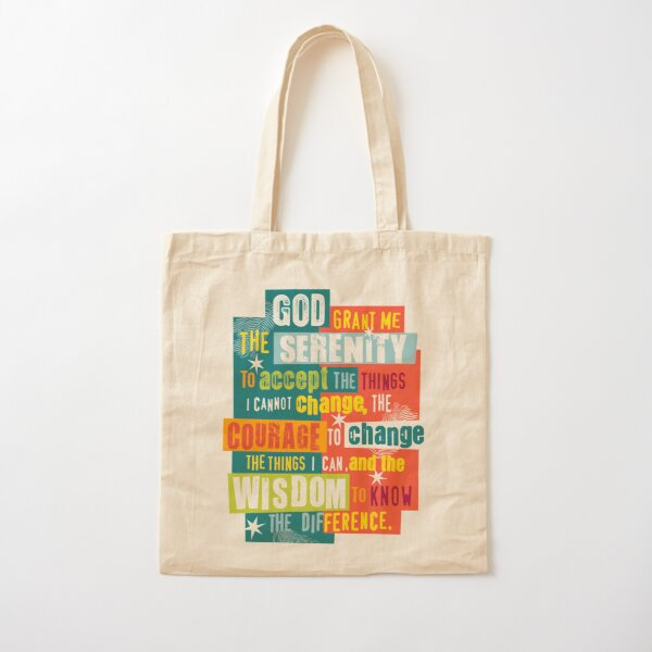 Serenity Prayer Original Graphic design Cotton Tote Bag