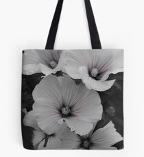 White Lavatera with Pink Highlights Tote Bag