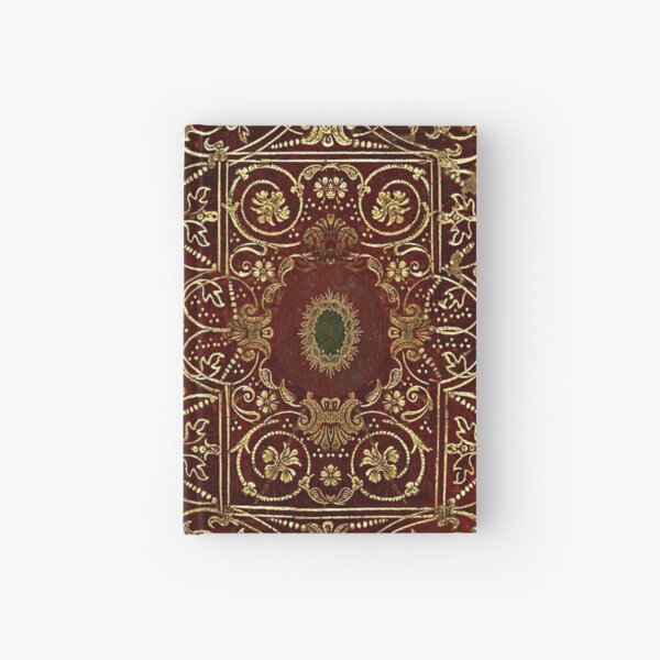 Elizabethan Style Gilded Leather Old Book Cover Hardcover Journal
