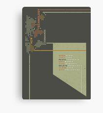 New Technology Commands Canvas Print