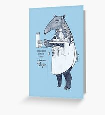 Tea time starts now - Malayan Tapir Greeting Card