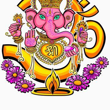 Ganesh sticker by trippitako