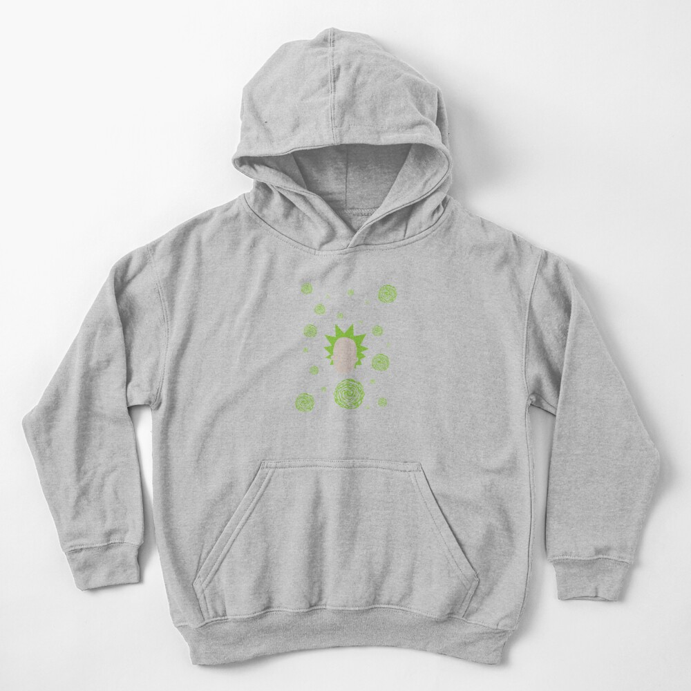Rick and Morty - Rick Sanchez Pattern Kids Pullover Hoodie