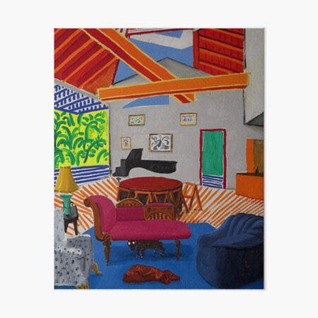 David Hockney Interior Art Board Print