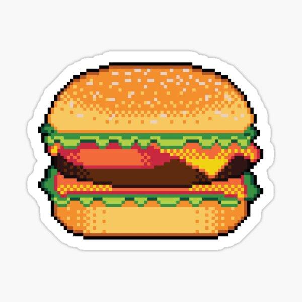 Pixel Burger Sticker