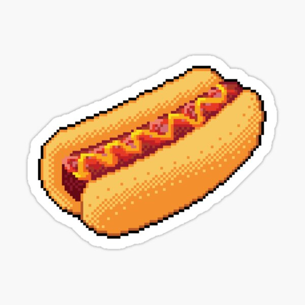 Pixel Hot Dog Sticker