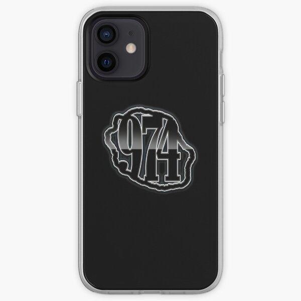974 Ile de La Reunion - Logo -  Black metal Coque souple iPhone