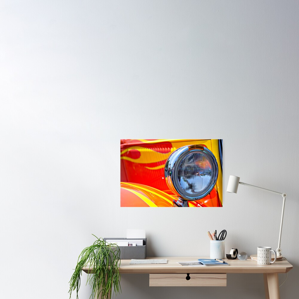 One Flaming Headlight Poster