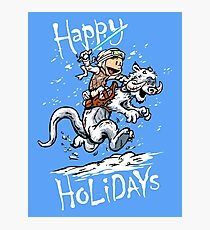 Calvin and Hoth - Holiday card Photographic Print