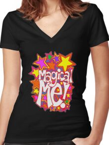 Magical Me! Women's Fitted V-Neck T-Shirt
