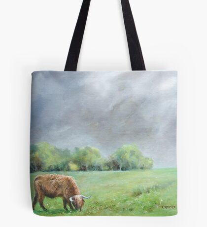 Big hairy cow (what storm??) Tote Bag