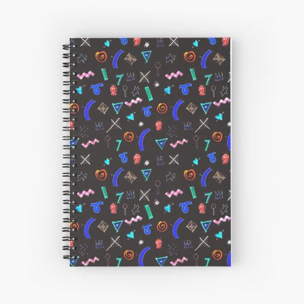 Motif dark Spiral Notebook