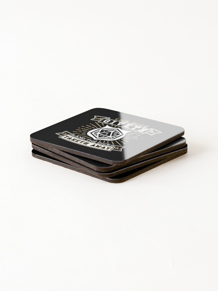 Alternate view of The Dice Giveth And The Dice Taketh Away Coasters (Set of 4)