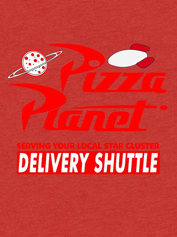 Pizza-Planet von Noveltee-Shirts