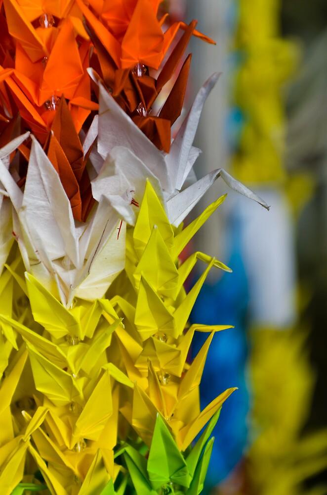 Paper Cranes by brian hammonds