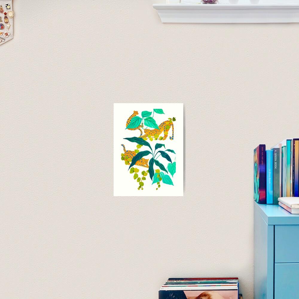 Leopards Playing among Plants Art Print
