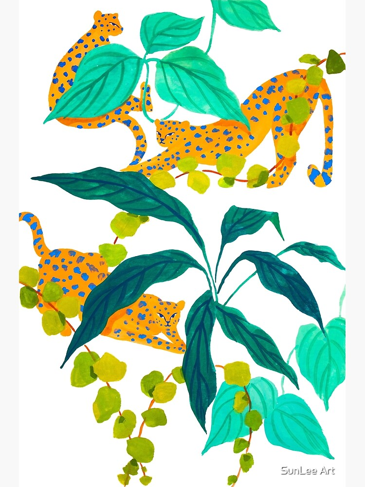 Leopards Playing among Plants by sunleeart