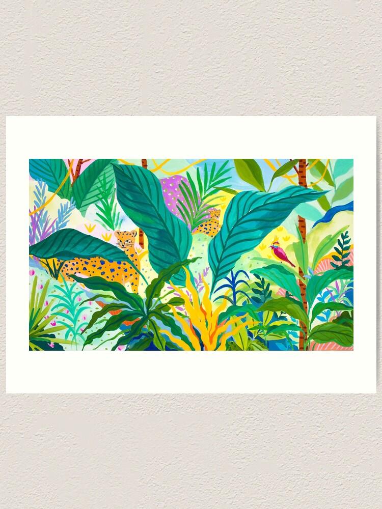 Alternate view of Paradise Jungle Art Print