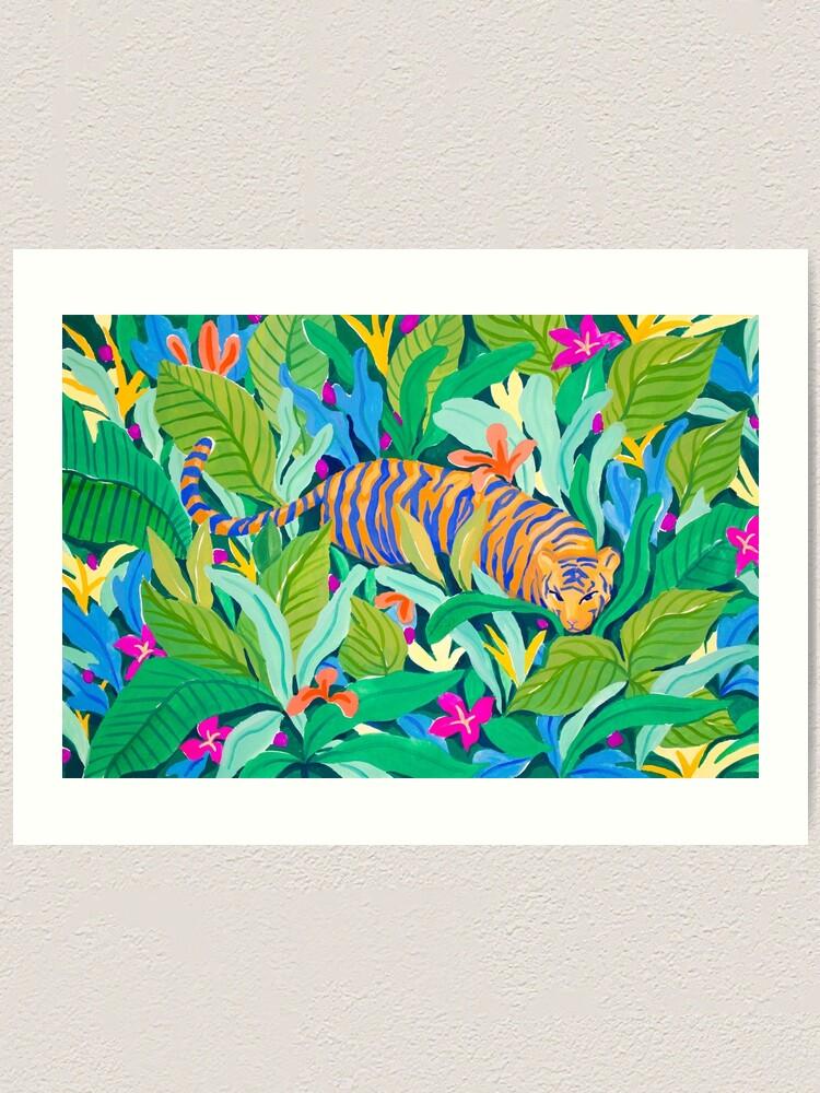 Alternate view of Colorful Jungle Art Print