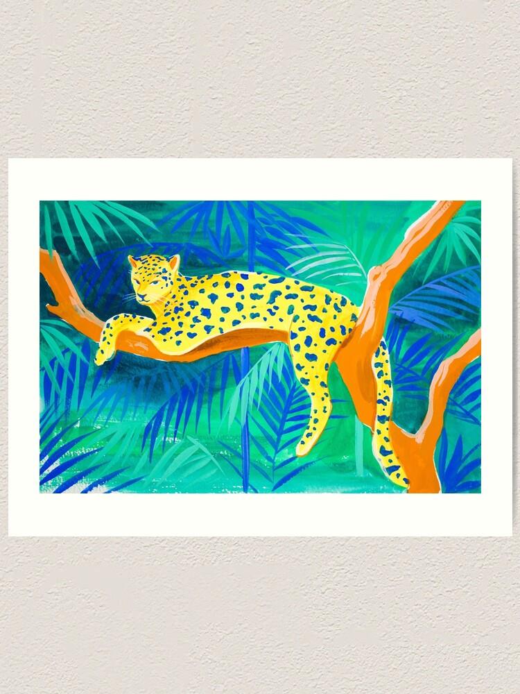 Alternate view of Leopard on Tree Art Print