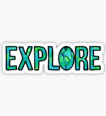 Explore Tie Dye Sticker