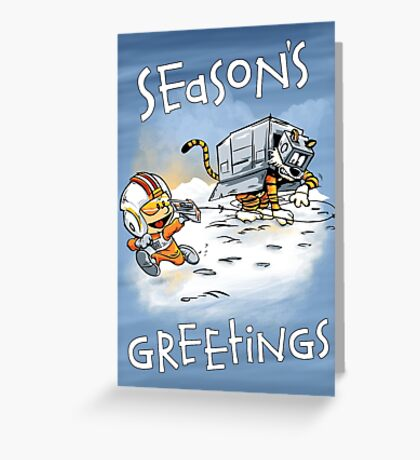 Attack of the Deranged Killer Snow Walkers - Holiday card Greeting Card