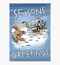 Attack of the Deranged Killer Snow Walkers - Holiday card Photographic Print