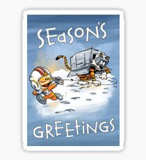 Attack of the Deranged Killer Snow Walkers - Holiday card Sticker