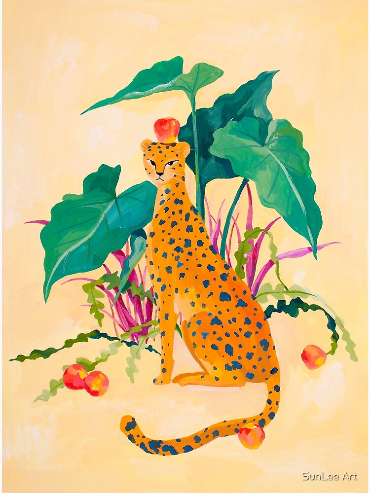 Cheetah and Apples by sunleeart