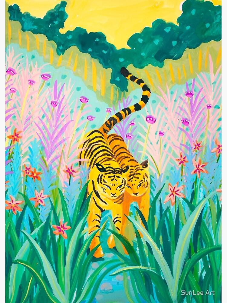 Tigers in Garden by sunleeart