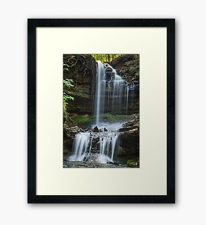 Horseshoe Falls, Munising, Michigan Framed Print