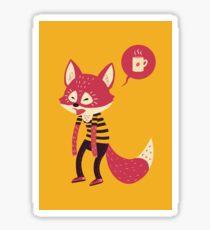 Good Morning Fox Sticker