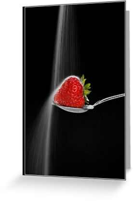 Strawberry and Sugar Waterfall by Lin-Ann Anantharachagan