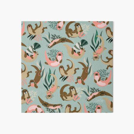 Otter Collection - Mint Palette Art Board Print