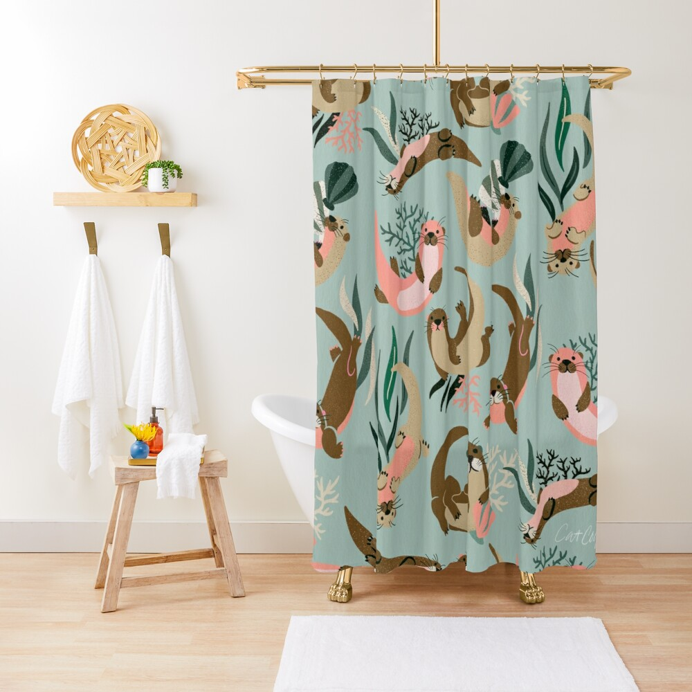 Otter Collection - Mint Palette Shower Curtain
