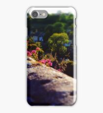 Tilt-shift panorama of Fresnay-sur-Sarthe iPhone Case/Skin