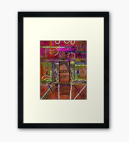 SEEING LIFE with my eyes shut tight Framed Print