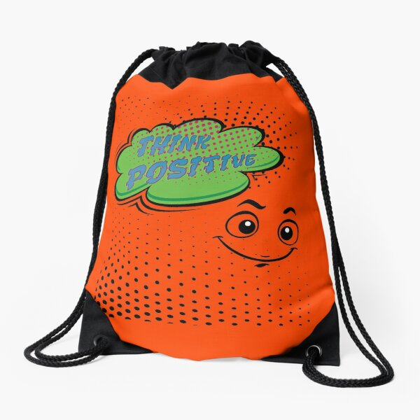 Think positive Think positive Drawstring Bag