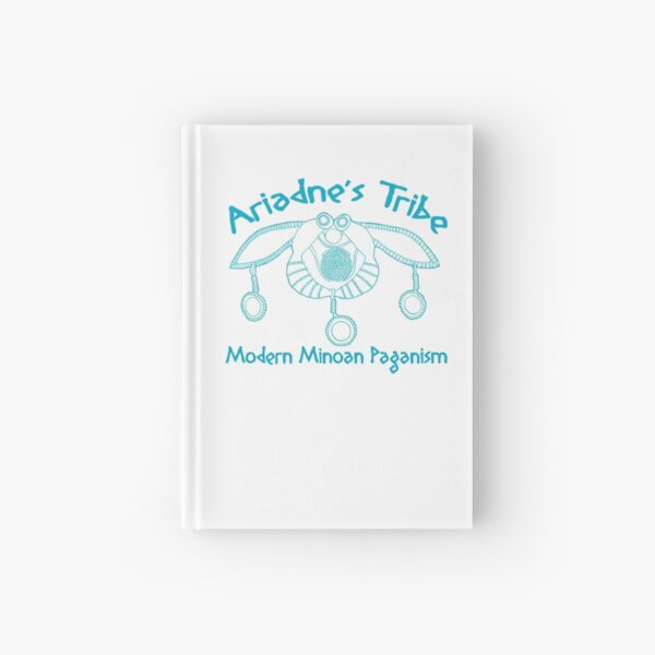 Modern Minoan Paganism Official Logo in Aegean Blue Hardcover Journal