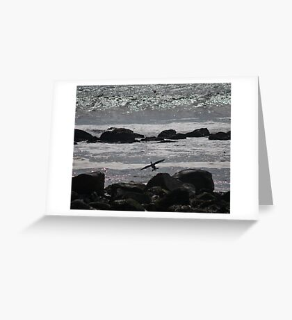 Into the Wind Greeting Card