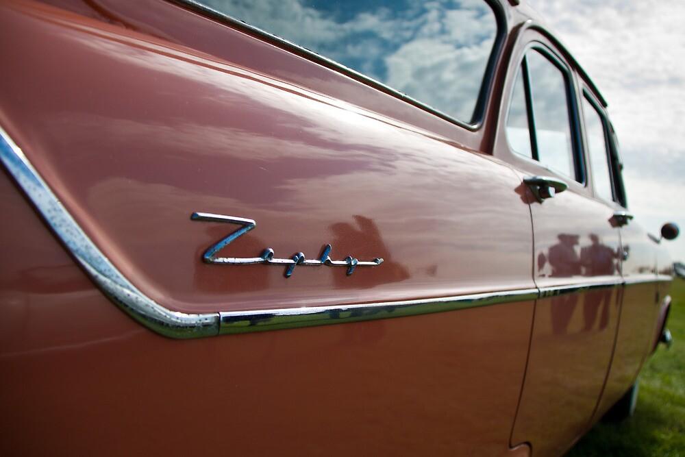 Red Ford Zephyr, Goodwood Revival, 2011 by herbpayne