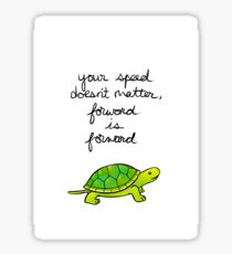 Forward is Forward Turtle Sticker