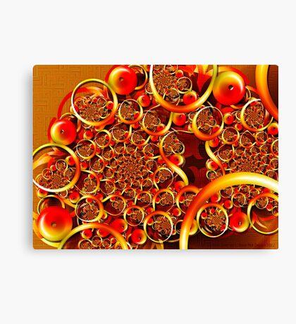 Autumn Feast (Fibonacci Julia) Canvas Print