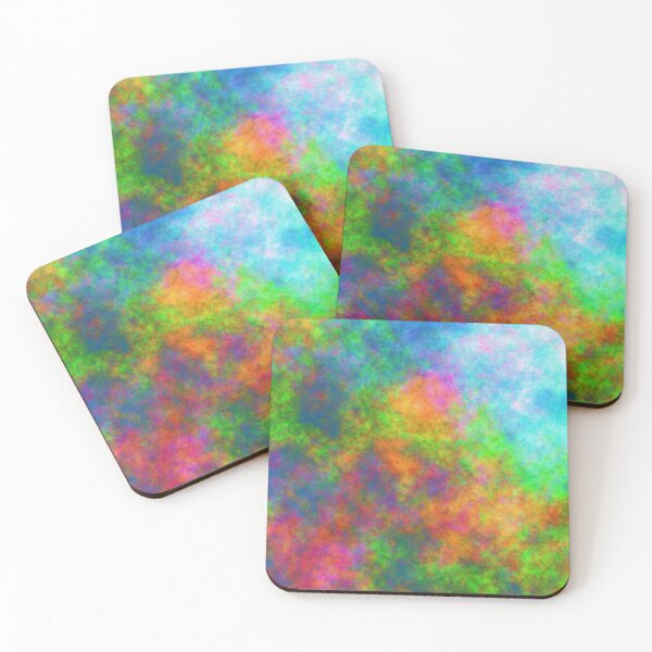 Abstraction of underwater forest Coasters (Set of 4)