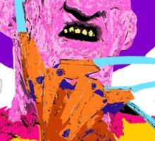 Freddy Kruger- Horror Lisa Frank Style! Sticker
